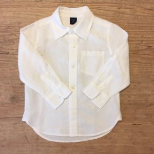BABY GAP camisa social linho branca 3 anos