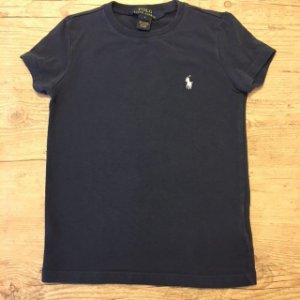 RALPH LAUREN camiseta lisa marinho 5 anos