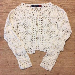 TIZZAS casaco crochê of white 3-4 anos