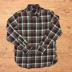 GAP KIDS camisa social xadrez flanela 10 anos