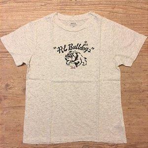 RALPH LAUREN camiseta mescla Bulldog 7 anos 45,00