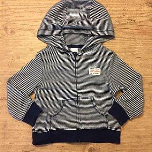 CARTERS casaco de malha listras marinho zíper com capuz 12 meses