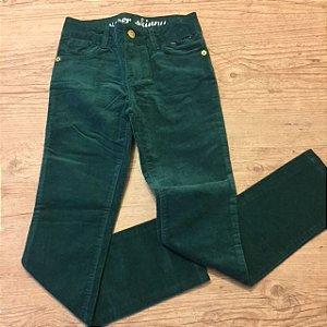 GYMBOREE calça veludo verde 7 anos com etiqueta
