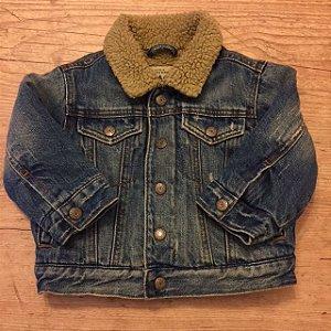 PLACE jaqueta jeans forradas de pelo sintético 18 meses