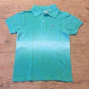 LACOSTE camisa polo verde claro Tie dye 6 anos