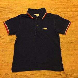 LACOSTE camisa polo azul royal 4 anos (apresenta marcas de uso)
