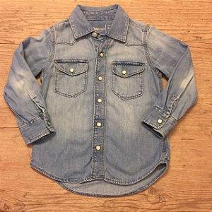 BABY GAP camisa social jeans 4 anos