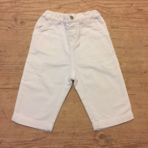PETIT BAUTEAU calça veludo Branca 6 meses