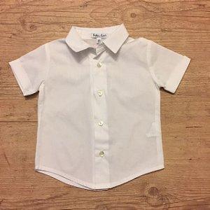 LATTE E BACI camisa social branca 9-12 meses