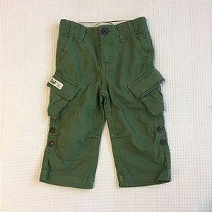 BABY GAP calça cargo verde 12-18 meses