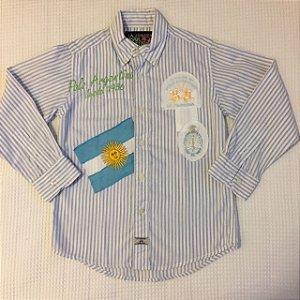 LA MARTINA JUNIOR camisa social listras azul 6 anos
