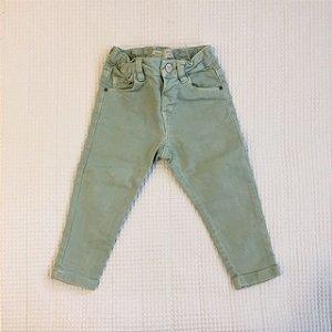 ZARA calça verde clara 12-18 meses