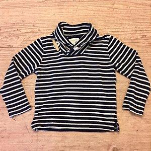 CREWCUTS casaco listras marinho 3 anos