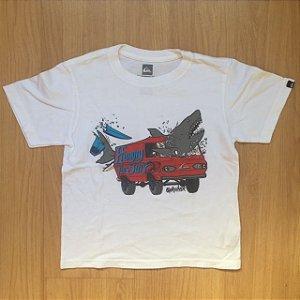 QUIKSILVER camiseta branca carro verm 5 anos