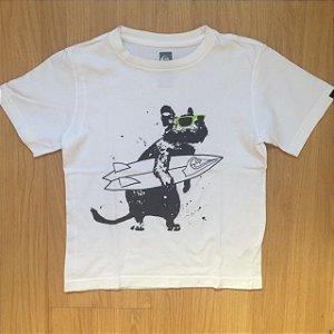 QUIKSILVER camiseta branca rato surf 5 anos