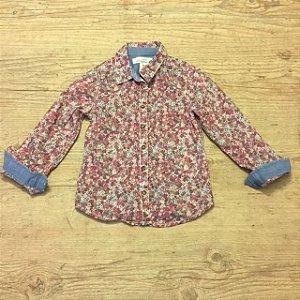 H&M camisa social feminina florida 3/4 anos