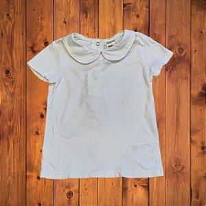 OSHKOSH camisa de malha branca gola 2 anos
