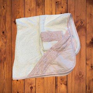 HELLO SPEED toalha de banho c toalinha branca bababdos rosa