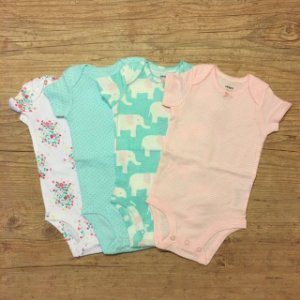 CARTERS body mg longa kit rosa elefante c 3 3 meses