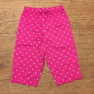 CARTERS calça de malha rosa pois branco 12 meses