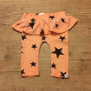 ROSIE POPE legging salmão estrela 3- 6 meses