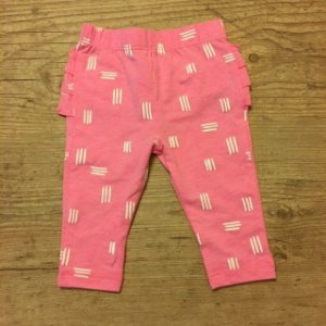 CAT AND GIRL legging rosa babados 0-3 meses