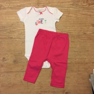 CARTERS conjunto calça + body super sweet 9 meses