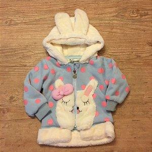 THIAMES casaco moletom acolchoado capuz coelho 8 meses