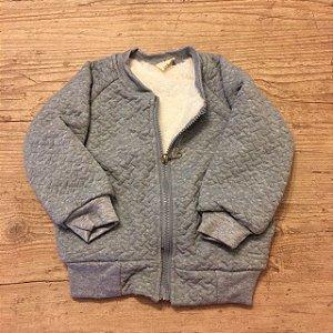 BIBICOLA casaco moletom cinza forro pelos sintetico 6 meses