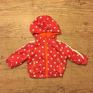 PINK PLATINUM capa de chuva vermelha pois branca 6-9 meses