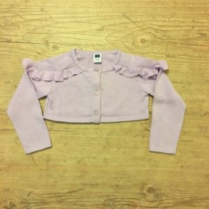 JANIE AND JACK casaco de linha lilás tipo bolero 18-24 meses