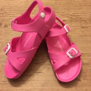 BIRKENSTOCK sandália de plástico rosa EU 34 BRA 33