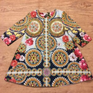 MINHA MARIA vestido estp flores colorido 4 anos