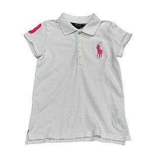 RALPH LAUREN camisa polo branca 6 anos