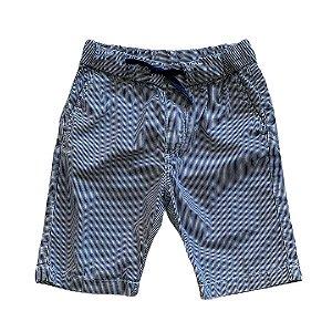 H&M bermuda listras azul 4-5 anos