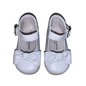 CHILDRENS CLASSIC botinha de couro branco tipo boneca EU 18 BRA 16  NOVO
