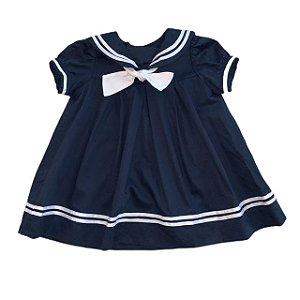 BONITA vestido algodão marinho tipo marinheiro 1 ano