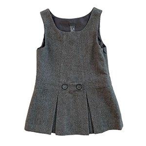 ZARA vestido cinza de lã tipo veste 2-3 anos