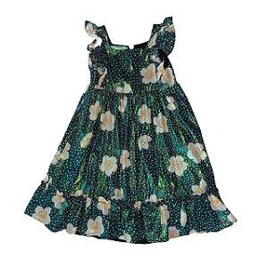 FÁBULA vestido c brilho verde estp flor 8 anos NOVO