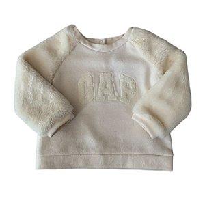 BABY GAP casaco moletom pelos bege 12-24 meses