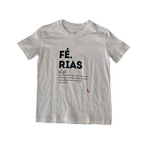RESERVA MINI camiseta branca FÉRIAS 6 anos