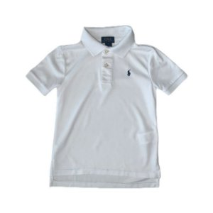 RALPH LAUREN camisa polo branca dry fit 5 anos