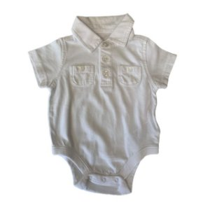 OLD NAVY body polo branco 0-3 meses