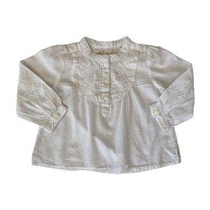 ZARA bata de algodão branca 6-9 meses