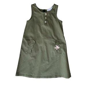 TARTINE ET CHOCOLAT vestido verde tipo veste 5 anos