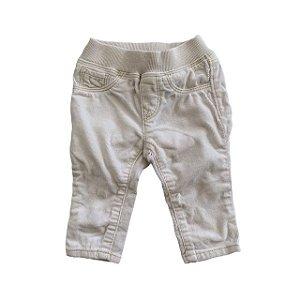 BABY GAP calça veludo branca 0-3 meses