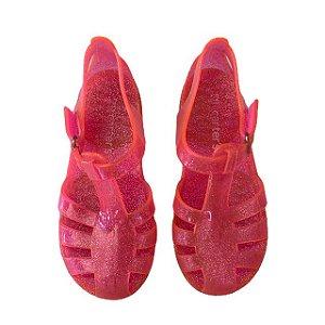 CARTERS sandália de plástico rosa USA 12 BRA 28