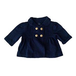BABY GAP casaco de moletom marinho botões dourados 3-6 meses