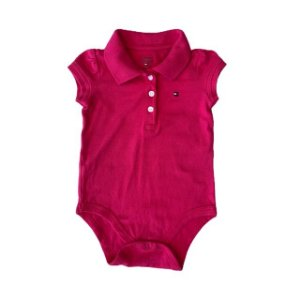 TOMMY HILFIGER body polo pInk 6-9 meses