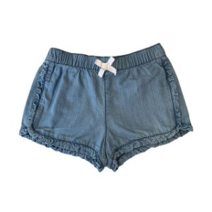 CARTERS short jeans c babados 24 meses